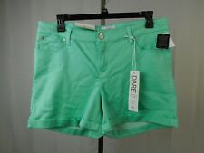 Celebrity Pink Dare You Colored Wash Denim Shorts 20W Lucite Green #4766
