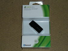 MICROSOFT XBOX 360 OFFICIAL WIRELESS LIVE HEADSET BLUETOOTH 3.0 MICROPHONE Black