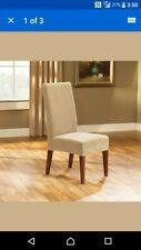 Sure Fit Stretch Pique Short Dining Room Chair Cover, Taupe