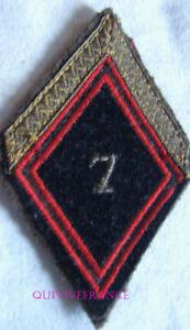 IN16192 - INSIGNE TISSU PATCH LOSANGE DE BRAS 7° Régiment du Génie - Sergent