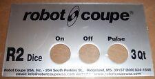 ROBOT COUPE GENUINE ORIGINAL 407902 FOOD PROCESSOR FRONT DATA PLATE R2DICE