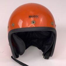 Buco Enduro Motorcycle Helmet RACING ORANGE COLOR Vintage 60-70's