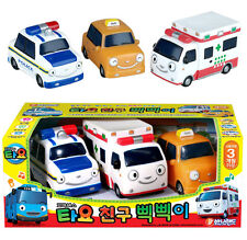 Tayo the Little Bus Friends Soft 3 Cars Toy Set Safe Character Baby Children Kid