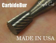 "New Usa Carbide Burr Sn-1 Single Cut 1/4"" Inverted Taper Deburring Tool Bit"