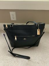 NWT!! Coach F54687 Tyler Large Pebble Leather Tote Black With Gold Hardware