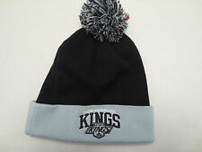 MITCHELL & NESS NHL LOS ANGELES KINGS STRIPE CAP KNIT WINTER HAT POM BEANIE