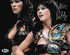 Miss Kitty The Kat Signed 8x10 Photo BAS Beckett COA WWE Auto'd Picture w/ Chyna