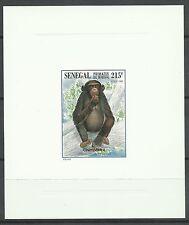 Senegal Singe Chimpanze Monkey Schimpanse Epreuve Deluxe Die Proof Essay ** 1996
