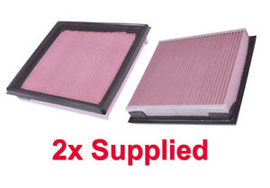 2x Panel Air Filter Standard OE  Fits Nissan 350Z VQ35HR 07-09 One Pair