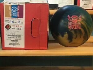 Roto Grip Halo Vision Hybrid 14lbs New & Undrilled With Great Box Specs Big Hook