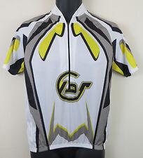 Cycling Crane Retro Jersey Top Shirt Grey White Trikot Maglia Mens Small S