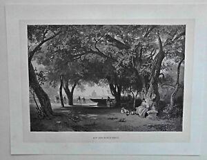 Rom, Roma - Monte Pincio - Santa Lucia - Dekorative Ansicht - Stich 1885