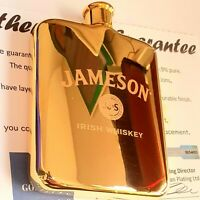 Gift Bag 24Ct Gold Plated Remy Martin Fine Champagne Cognac Hip Flask