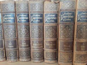 Brockhaus Konversationslexikon 18 Bände 1894 inkl. Supplement