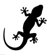 Eidechse Gecko Ibiza emblem IconSticker Aufkleber Grafik Vinyl Etikett Schwarz
