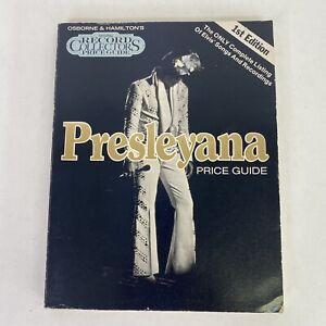 Vintage Elvis Presley Presleyana Records Price Guide 1st Edition Vtg Collectible