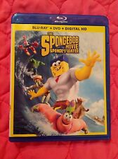 THE SPONGEBOB MOVIE: SPONGE OUT OF WATER BLU-RAY + DVD 2015 ANIMATED MOVIE