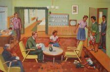 1962 Socialist Realism canvas print family portrait poster
