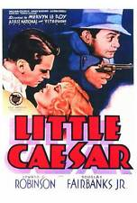 LITTLE CAESAR Movie POSTER 27x40 Edward G. Robinson Glenda Farrell Sidney