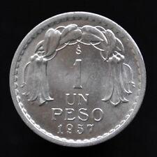 Chile 1 Peso 1957, km179a, South America UNC coin