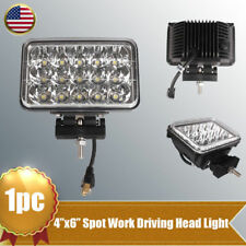 "4""X6"" 45W Work Light High Low Beam LED Headlight Bracket For Truck Offroad Jeep"