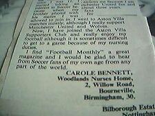 article 1968 football carole bennett nurses home bourneville