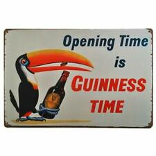 Opening Time is Guinness Time Retro Vintage Tin Sign 8 X 12 Inch