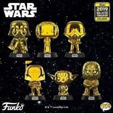 Star Wars - Gold Chrome Pop! Vinyl - SET OF 6 BUNDLE - 2019 Galactic Convention
