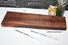 Nußbord Wandboard massiv mit Baumkante Holz-Regalbrett Baumkantenbord #36