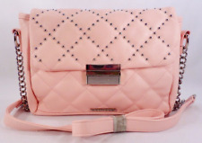 Purse RAMPAGE $68 NWT Pink Quilt Stitch Silver Studded Cross-Body Square Shape
