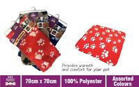 Pet Dog Cat Blanket Soft Cosy Fleece Warm Blanket  Rug Mat 70 x 70cm