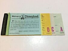 Disneyland Adult Ticket Book 1977 11 Tickets  D C & A Tickets