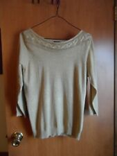 Worthington pull over top shimmering Gold  Large