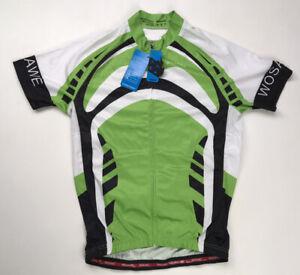 Wosawe Full Zip Men's Cycling Jersey Green Short Sleeve Adult Medium NWT