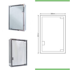 Cassellie Polished Stainless Steel Bathroom Mirror Cabinet with 1 Door | MCA003