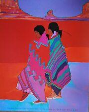 Amado Pena Mini Prints Valle Series: Danza De Colores # 8020 Signed 8X10 in