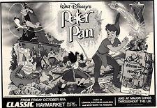 Walt Disney PETER PAN(1953) Original magazine advert(1992 UK re release)