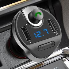 BA _ mani libere Bluetooth Lettore MP3 Dual USB ACCENDISIGARI CARICABATTERIA DA AUTO likab