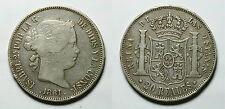 ESPAÑA. SPAIN.  ISABEL II. ISABELLA II.    20 REALES 1861  MADRID.     MBC -