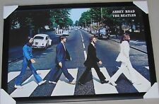 The Beatles Framed Poster Abbey Road BLACK WOODEN AND GLASS ready to hang