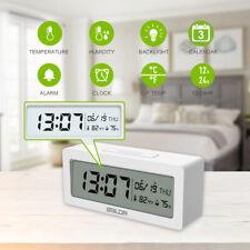 BALDR B0337 Alarm Clock Digital Big LCD Screen Display Time Temperature Humidity