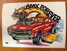 1970S SCANLENS ODDEST ODD RODS STICKER #95 AMC SUPER STOCK AMX DONRUSS LICENSED!