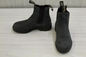 Blundstone 1630 Elastic Sided Ankle Boot - AUS 3.5/W 6.5/M 4.5 - Rustic Black