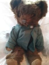 """10 """"knickerbocher bear in blue jacket"""