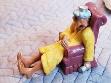 VINTAGE 1981 WILTON Birthday Cake Topper Sick man in chair Hong Kong