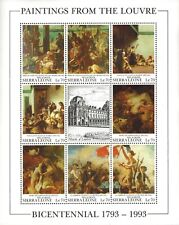 VINTAGE CLASSICS - Sierra Leone 1615 - Paintings From Louvre - Sheet of 9  - MNH