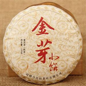 Puerh Black Tea 100g China Puer Tea Cake Cooked Golden Bud Green Food Pu-erh Tea