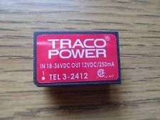 Traco Power TEL3-2412 DC/DC-Konverter 18-36VDC zu 12VDC 3 Watt *Neu*