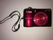 Nikon COOLPIX L30 20.1MP Digital Camera - Red