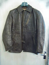 VINTAGE WW2 YUGOSLAVIAN LEATHER FLYING MOTORCYCLE JACKET SIZE L